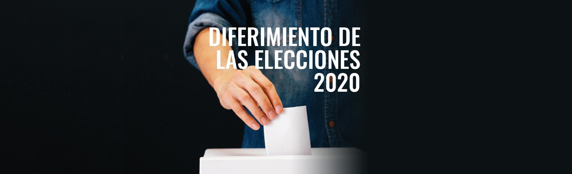 Diferimiento Elecciones 2020