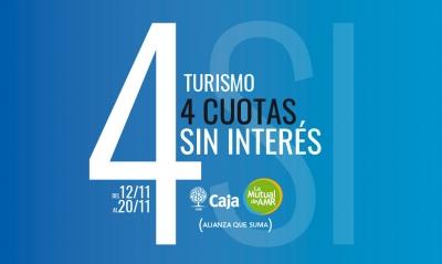 Turismo | 4 cuotas sin interés